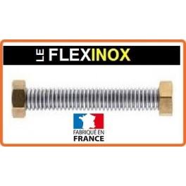Flexible inox DN25 avec raccords laiton femelle tournant 1 pouce 1/4