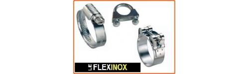 Collier inox W4 à bande pleine et à tourillon et bride en U
